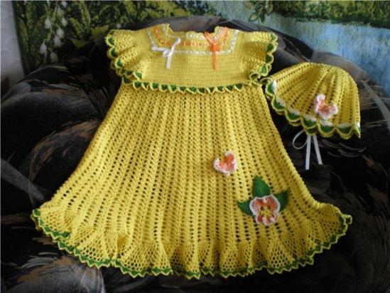 Комментарий: детские платья вязаные крючком схемы.