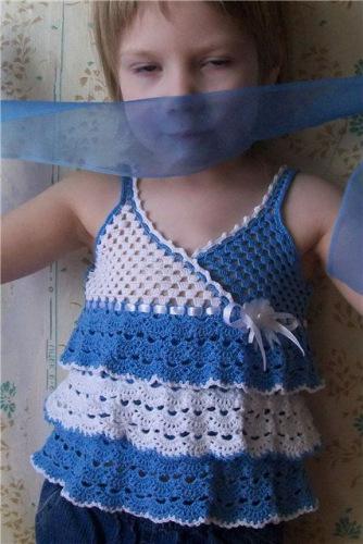 Платье для девочки без рукавов. Детская рубашка с длинным рукавом и