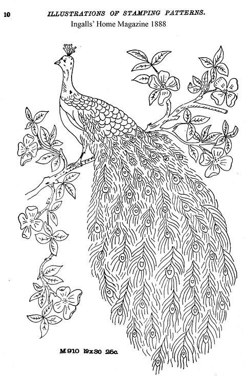 Схема для вышивки гладью орел 94