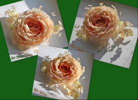 как сделать цветов из ткани.