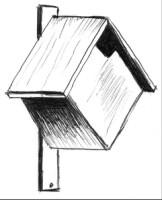 домик для мухоловки и горихвостки