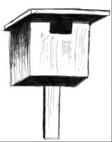 домик для трясогузки и серой мухоловки