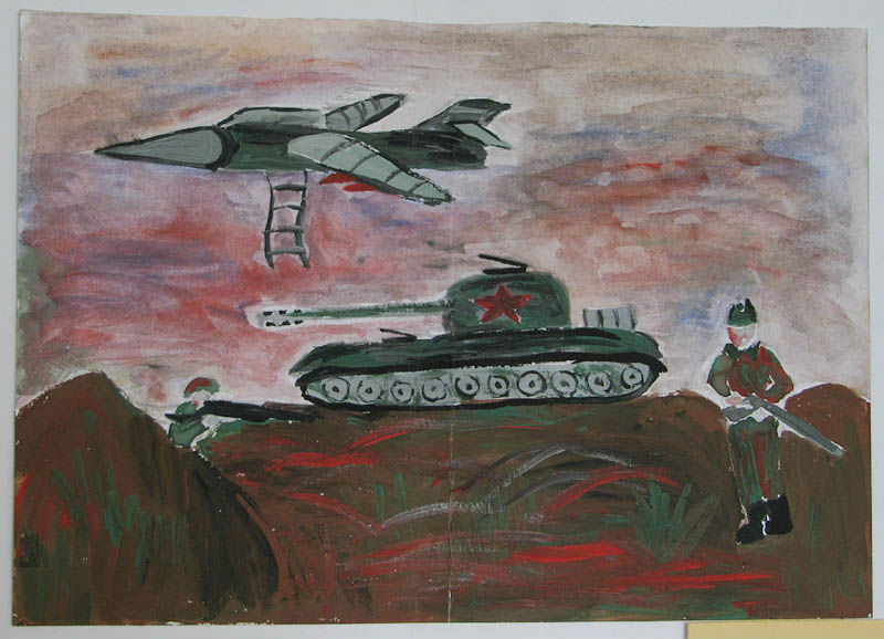Нарисовать картинки про войну карандашом