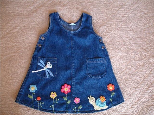 Детское платье своими руками из старых джинсов