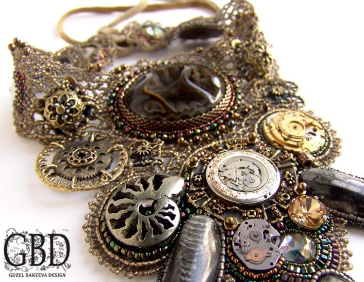 колье и браслеты steampunk (Фото 2)