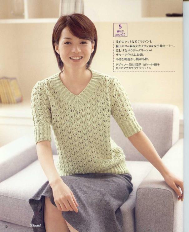 Вязание свитера спицами для женщин крупная вязка 236