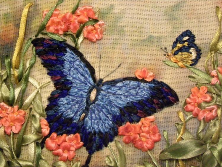 Мастер класс вышивка лентами бабочки - gmpruaz.ru.