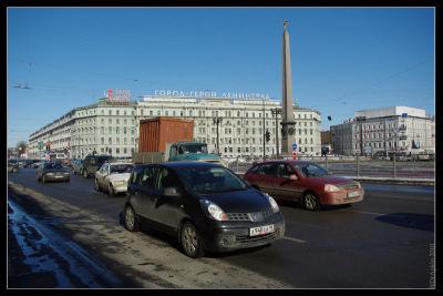 Знаменская площадь. 23 марта 2010.