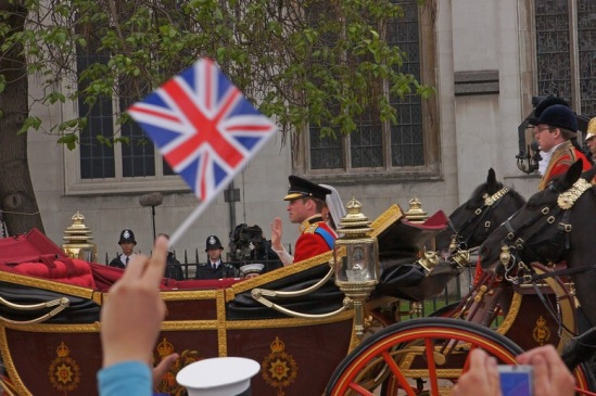 Свадьба принца Уильяма и Кейт Миддлтон. На фото автора - молодожены..