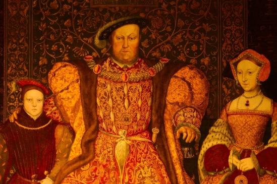 Генрих VIII c Джейн Сеймур и сыном. На самом деле Джейн умерла, когда их с Генрихом сыну было несколько дней.