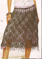 Часть 1. Часть 2. Часть 6. Часть 7. юбка и её варианты. вязаная розовая юбка.  Ананасы, ананасы, ананасики.(много...