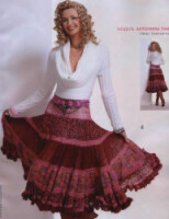 Схемы вязания юбки