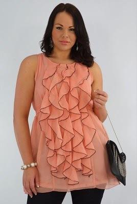 Мода для полных весна лето 2011 Модное платье для полной женщины.