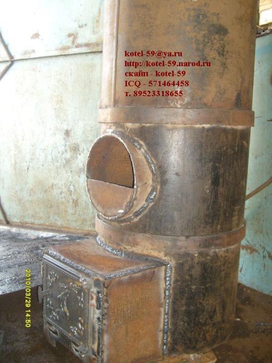Круглая печь для бани своими руками из металла