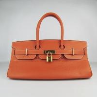 Реплика Hermes Birkin JPG сумки 042 оранжевый (золотой)