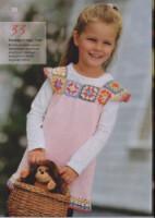 платье для девочки с кокеткой из квадратов.