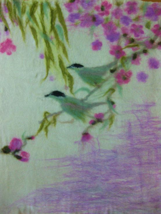 ...по картинам в технике Шерстяной акварели (рисунок приваливается по...