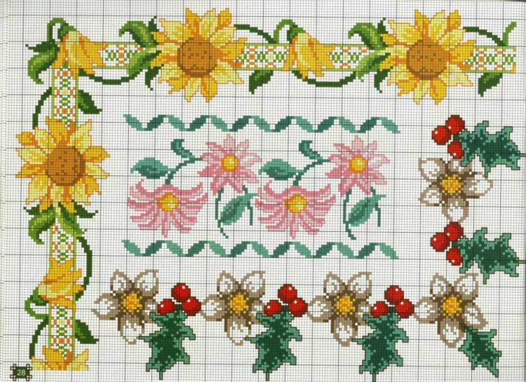 Маленькие цветы вышивка крестом для начинающих