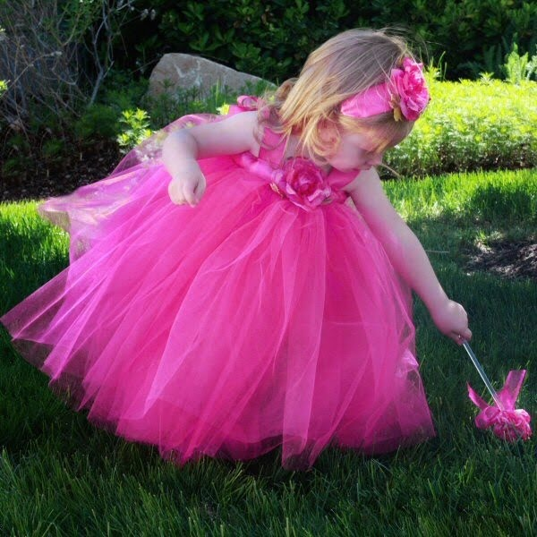 hot pink flower girl dress № 139505