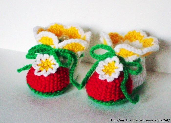 Описание: b Описание: схемы вязание крючком пинеток в виде кроссовок, вязанные.