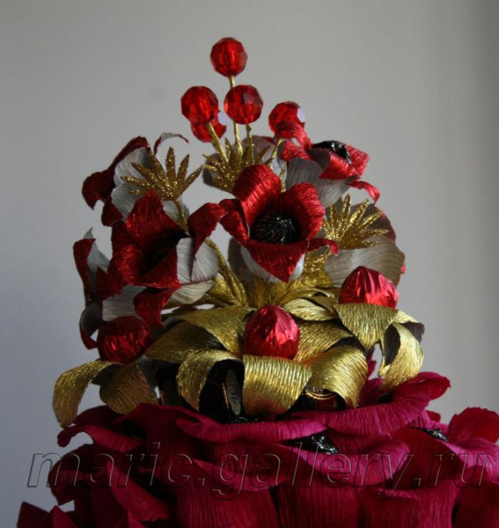 Как оформить букет из конфет своими руками фото пошагово для начинающих 180