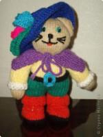 Игрушка Вязание спицами: Кот в сапогах Пряжа.