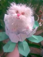 Игрушка Вязание крючком, Вязание спицами: Вязаный кот Нитки.  Куклы Кошки.