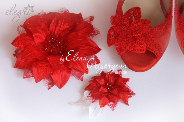 Цветы Из Ткани На Платье Купить