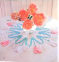 Салфетки крючком с цветами.  Прочитать целикомВ.