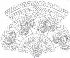 вязание крючком салфетки со схемами - Исскуство схемотехники.