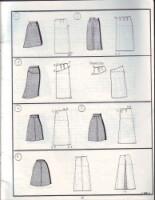 Моделирование юбок - варианты моделей юбок с чертежами.