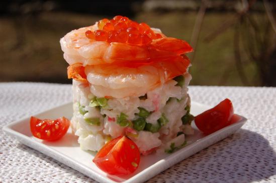Фото салата с крабовым мясом