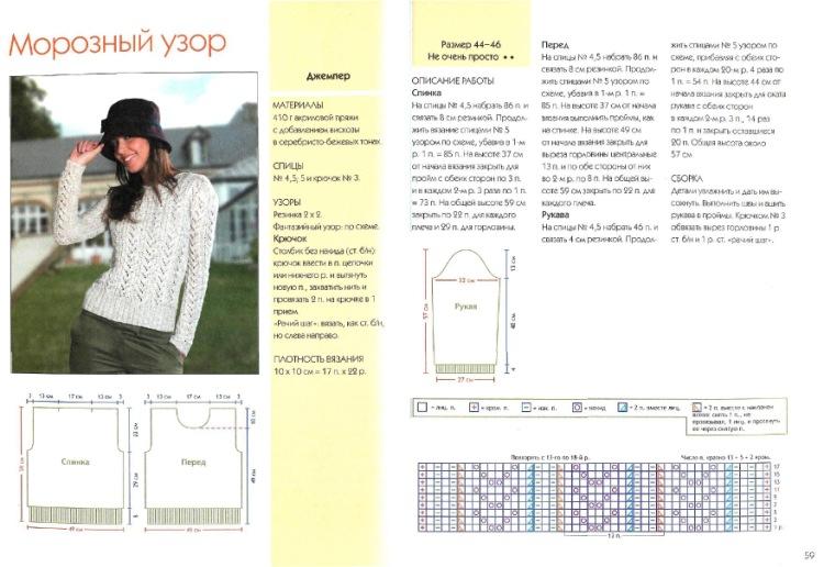 Узоры спицами для свитера схемы и описание