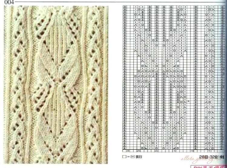 Вязание спицами в японском стиле со схемами