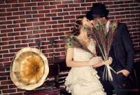 идеи для свадебной фотосессии в гангстерском стиле.