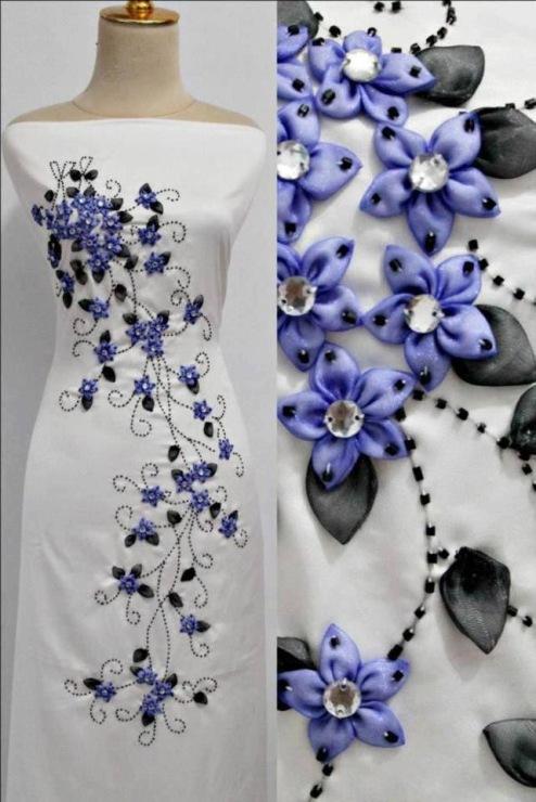 Как декорировать платье вышивкой