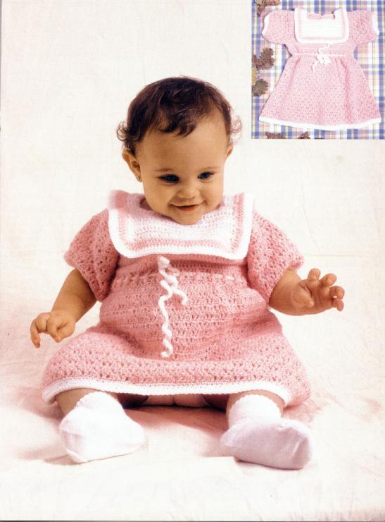 Вязание для детей. платья, сарафаны. воротник, напоминает детский нагрудник. связанное. Еще одно
