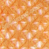 Ажурные узоры для вязания на спицах.