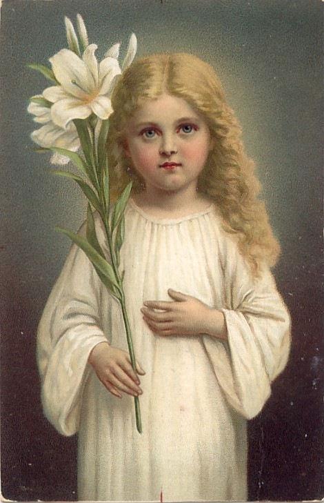 Икона девочка с цветком трилетствующая