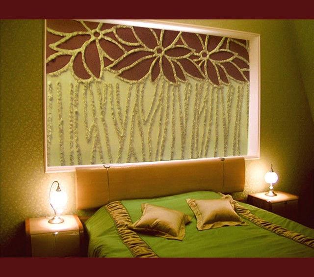 Оформление стены своими руками в спальне фото