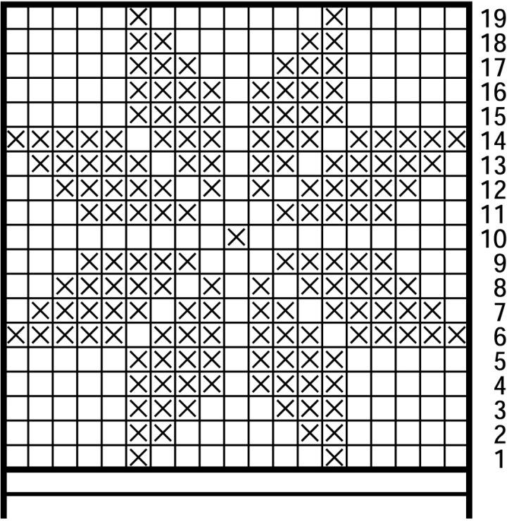 Схема рисунка по вязанию
