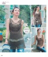 Crochet Sweater / Вязание крючком.  Кофточки, болеро, топы 2008, JPG, KR.