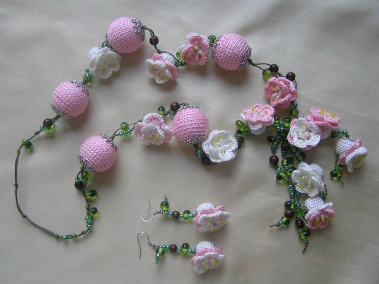 Вязание крючком красивых украшений - Master class